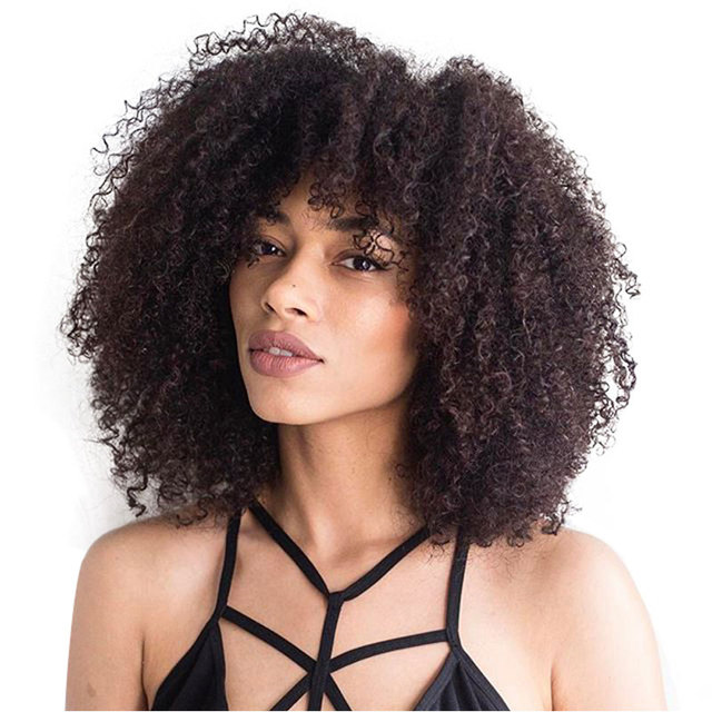 afro kinky curly weave human hair bundles for black woman