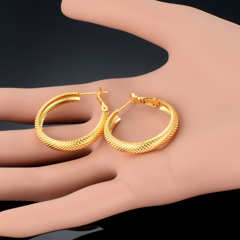 European Style Circle Round Hoop Earrings for Women Vintage Minimalist Loop Brand Basketball Brincos Bijoux Dropshipping