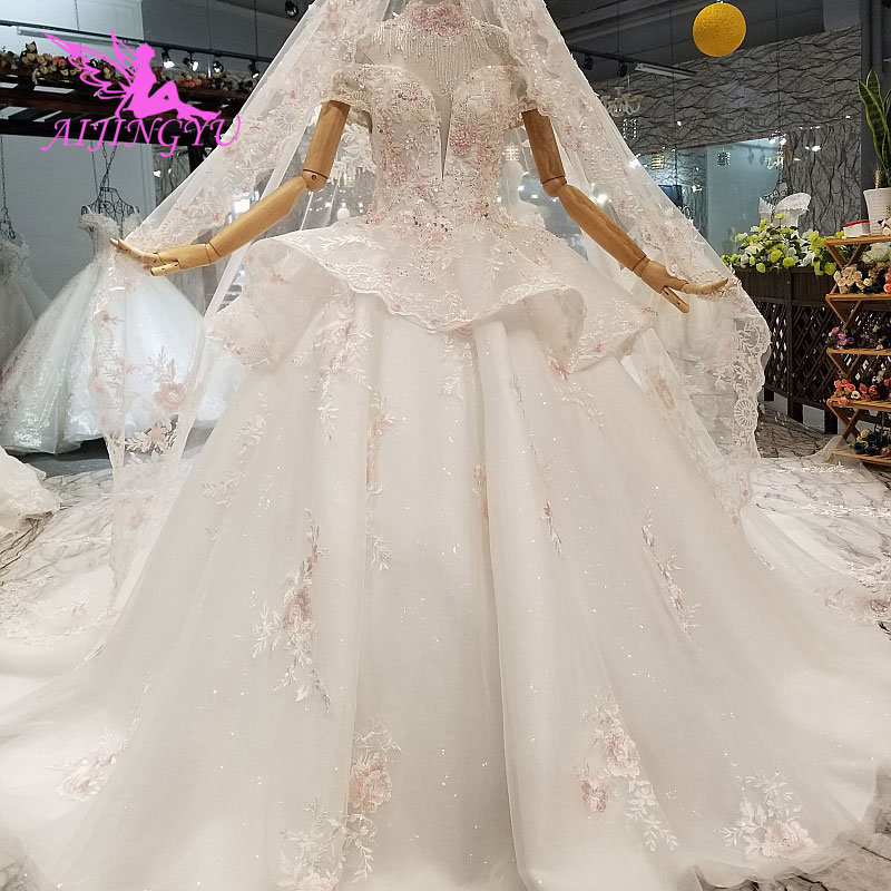 AIJINGYU Buy Bridal Gown Gowns In Turkey Romantic Love Arab Sexy Dress Imported Wedding Dresses