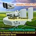O envio gratuito de alto ganho 7dbi antena de montagem para dji inspire 1/fantasma 3 professional & avançado diy signal booster