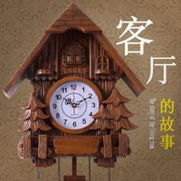 TUDA 2017 Wall Clocks The Living Room Wall Clock Creative Clock Cuckoo Clock Creative Art Wood