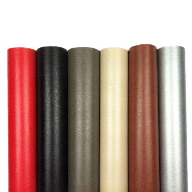 1.52*30 m Auto-adhésif PVC cuir vinyle Wrap pour voiture porte bord poignée tableau de bord accoudoir Auto externe décoration interne