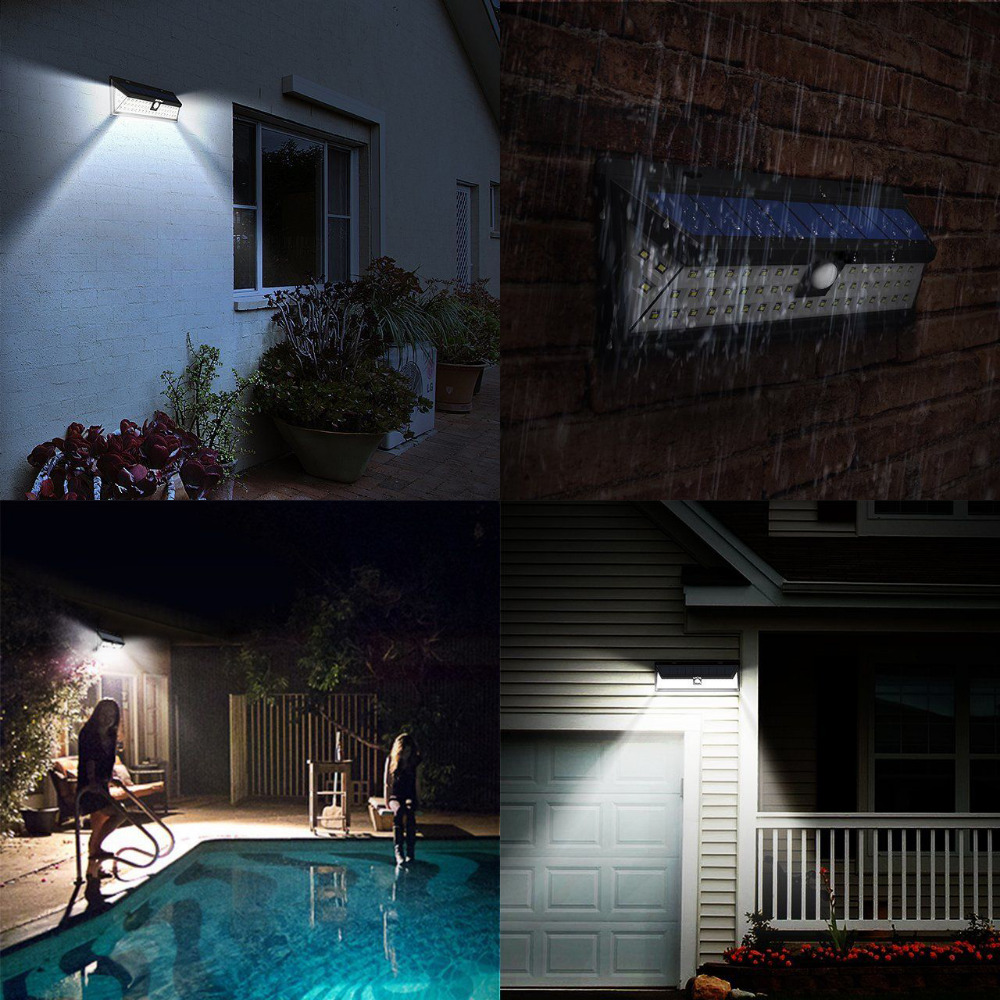Mising Waterproof 54 LED Solar Light 2835 SMD White Solar Power Outdoor Garden Light PIR ...