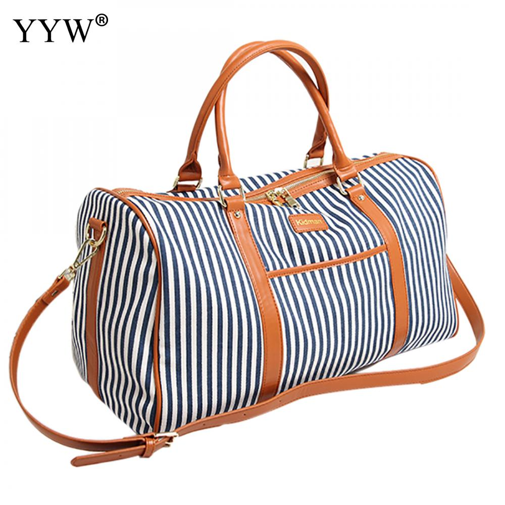 Striped Canvas Tote Bag for Men Large Capacity Unisex Handbags Blue Women Travel Shoulder Bags Male Soft Crossbody Bag kadell unisex handbags for men large capacity portable shoulder bags travel bags package soft pu leather retro bags women