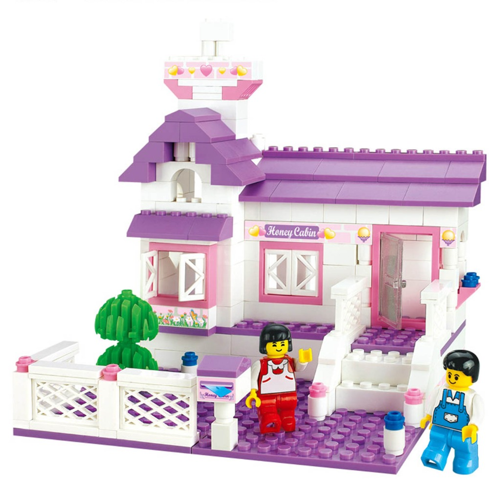 Pink Dream Series Honey Cabin Building Blocks Sets Model 193pcs Educational DIY Construction Brick toys мёд суфле смородина 30 мл peroni honey