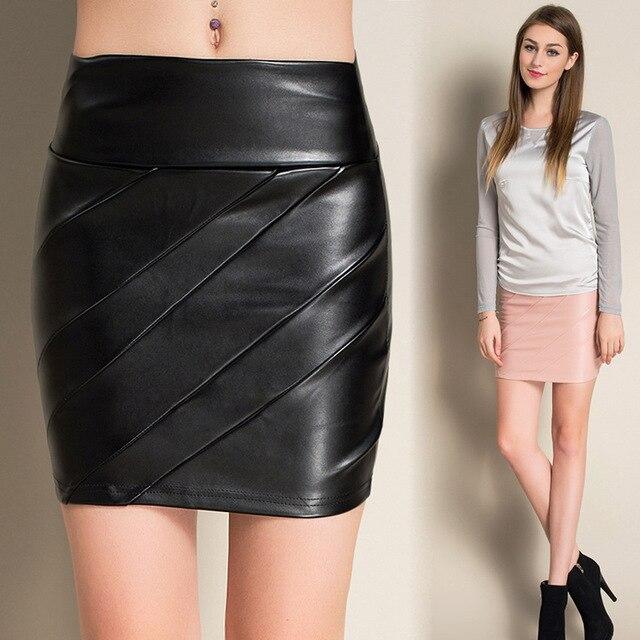 Niza Otoño Ropa de Mujer de Moda Flaco Mini Faldas Cadera Falda de Una  Línea Imperio 6e08c26c2a7f