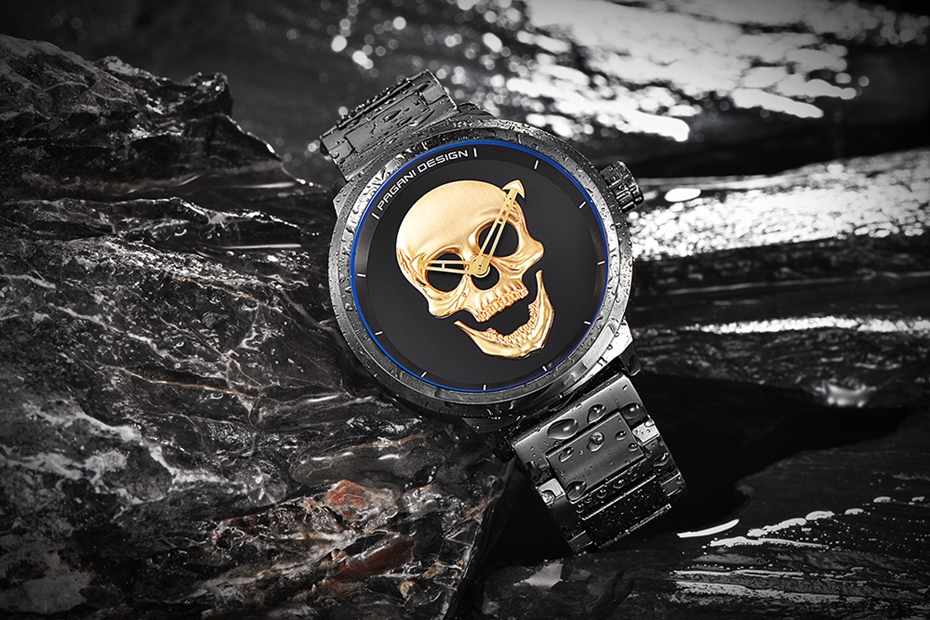 Top Luxury PAGANI DESIGN Punk 3D Skull Watch Men's Retro Fashion Watch Brand Man Clock Military Aviator Quartz Relogio Masculino (8)