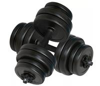 vidaXL Dumbbells 30kg Muscle Workouts Arms Exercises Safe Efficient Body Training Anti slip Handles Fitness Equipments Barbells
