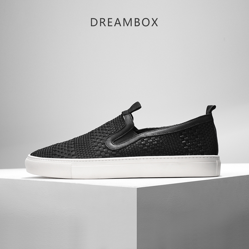 dreambox Summer han edition leather weaves breathable low help flat loafer shoes весна кукла иринка 6 30см весна