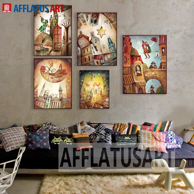 fantasy kingdom wall art posters and prints canvas painting abstract