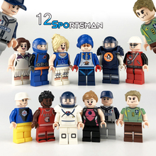 12pcs Action Figures Building Blocks Figures Brick DIY Toys Compatible Legoing Figures  Toy Police  Occupations  Gift For Kids