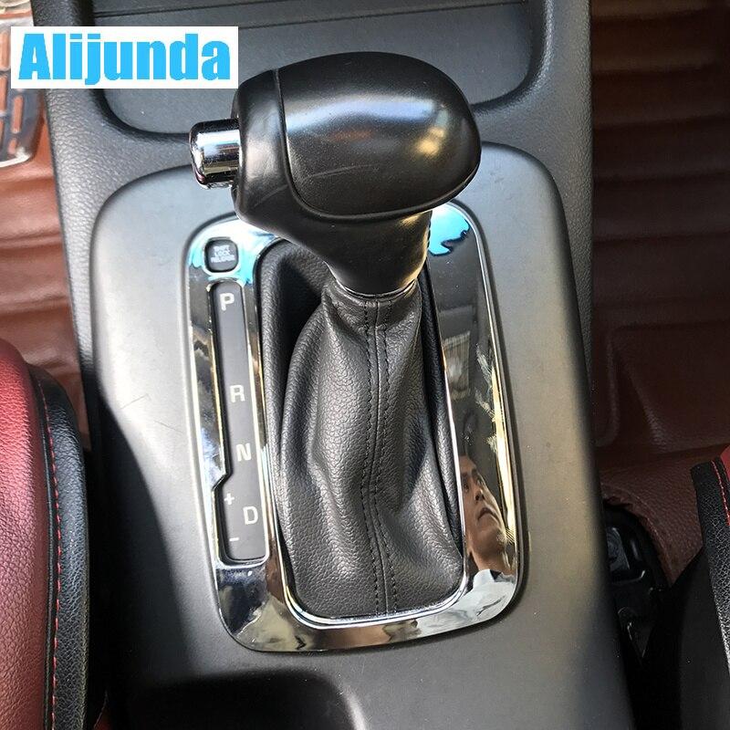Alijunda Fit For 2014 2015 KIA FORTE CERATO K3 Auto Chrome Gear Shift Trim Molding Cover Frame Accessories