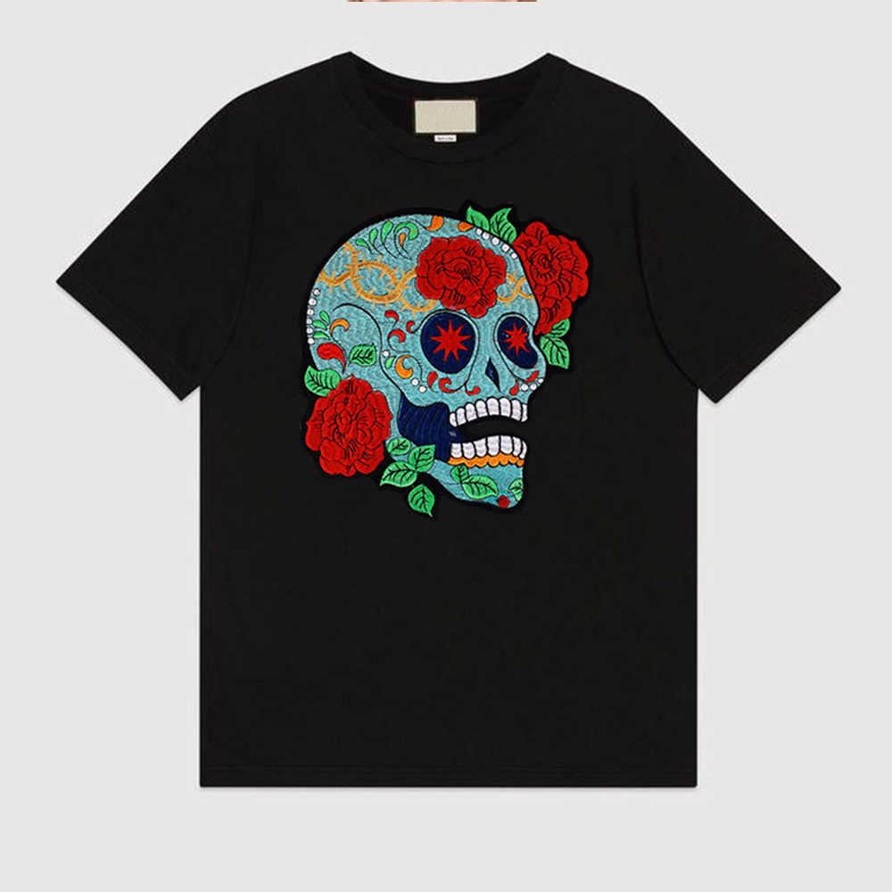 f415848118821 ... rose skull biker patch for Jacket backing, punk motorcycle embroidery  skeleton biker badge, skull ...