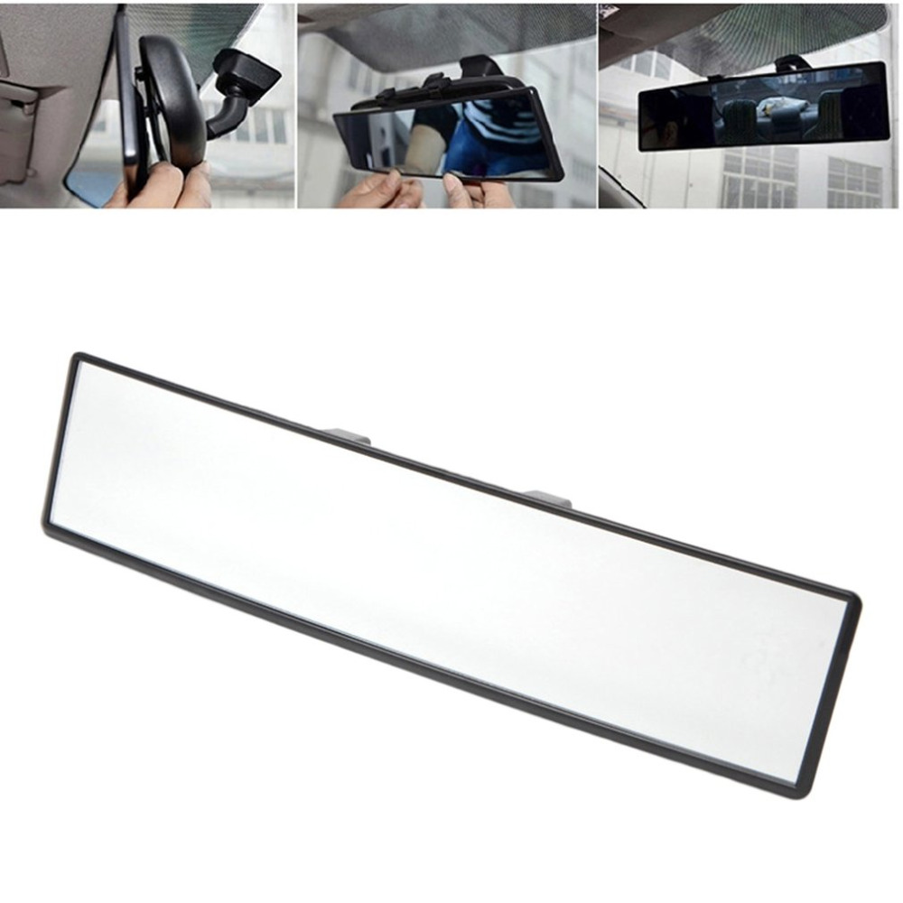 New Universal 300mm Car Rear Mirror Wide-angle Rearview Auto Wide Convex Curve Interior Clip On View