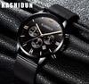 Relogio Masculino KASHIDUN Men Watches Top Brand Luxury Fashion Business Quartz Watch Men Sport Full Black