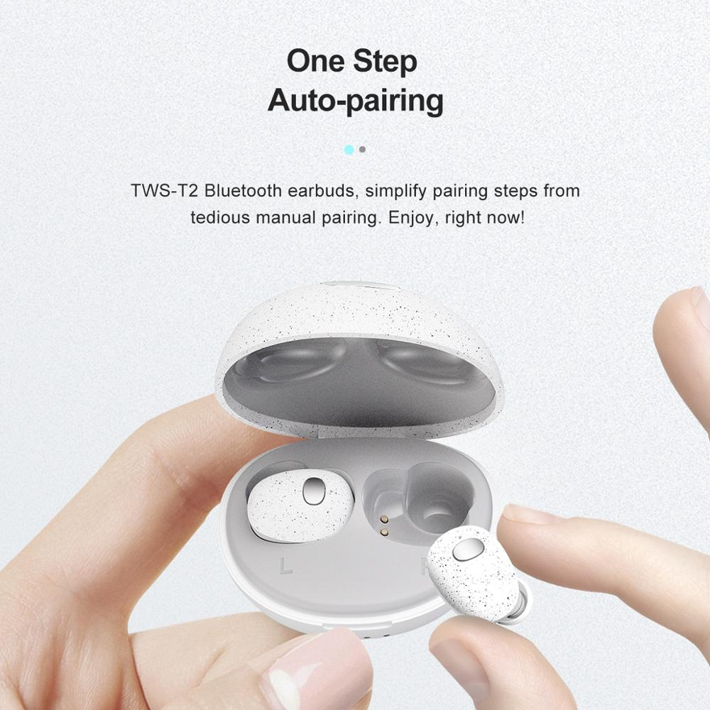 Whizzer E3 TWS True Wireless Earphones Earbuds Mini Bluetooth Headsets 5.0 IPX7 Waterproof Auto Pairing for Sports Running