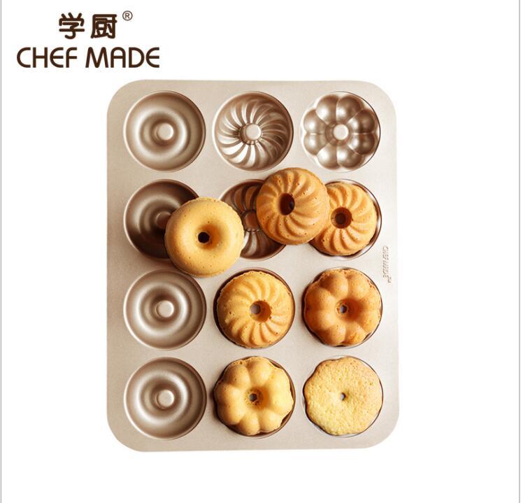 Moule à muffins noir 12 tasses facile à nettoyer