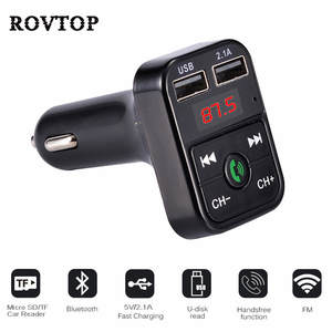 MP3 Music Player Car Bluetooth FM Transmitter FM Modulator Support TF Card 5 V 2.1A
