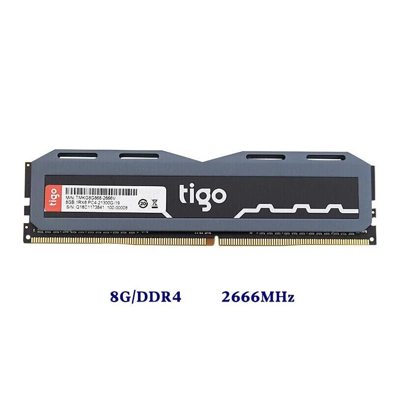 WOLFRINE 133.35*36.1mm 8 GB DDR4 2666 MHz RAM Memoria 288pin 1.2 V bureau RAMs jeu esport mémoire Compatible DDR4 2400 MHz