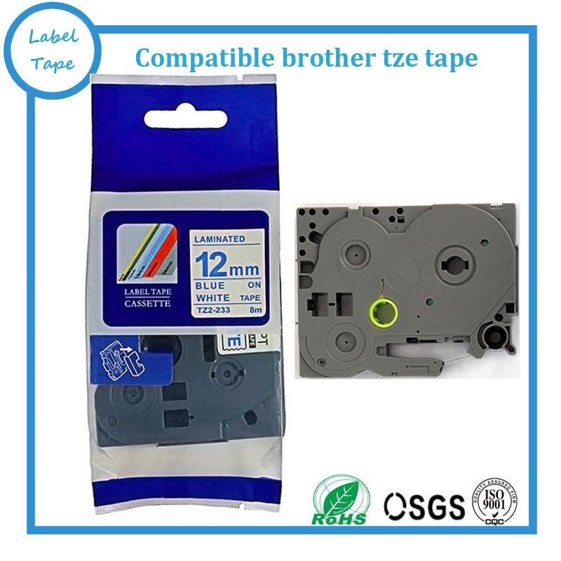 Brother TZE-233 LAMINATED TAPE 12mm 8m # TZE233