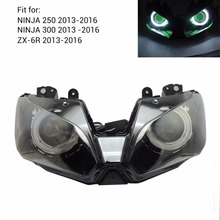2013-2016 Ninja250 Ninja300 ZX6R Angel Eye HID Projector Custom Headlight Assembly for Kawasaki Ninja 300 ZX-6R 2013-2016