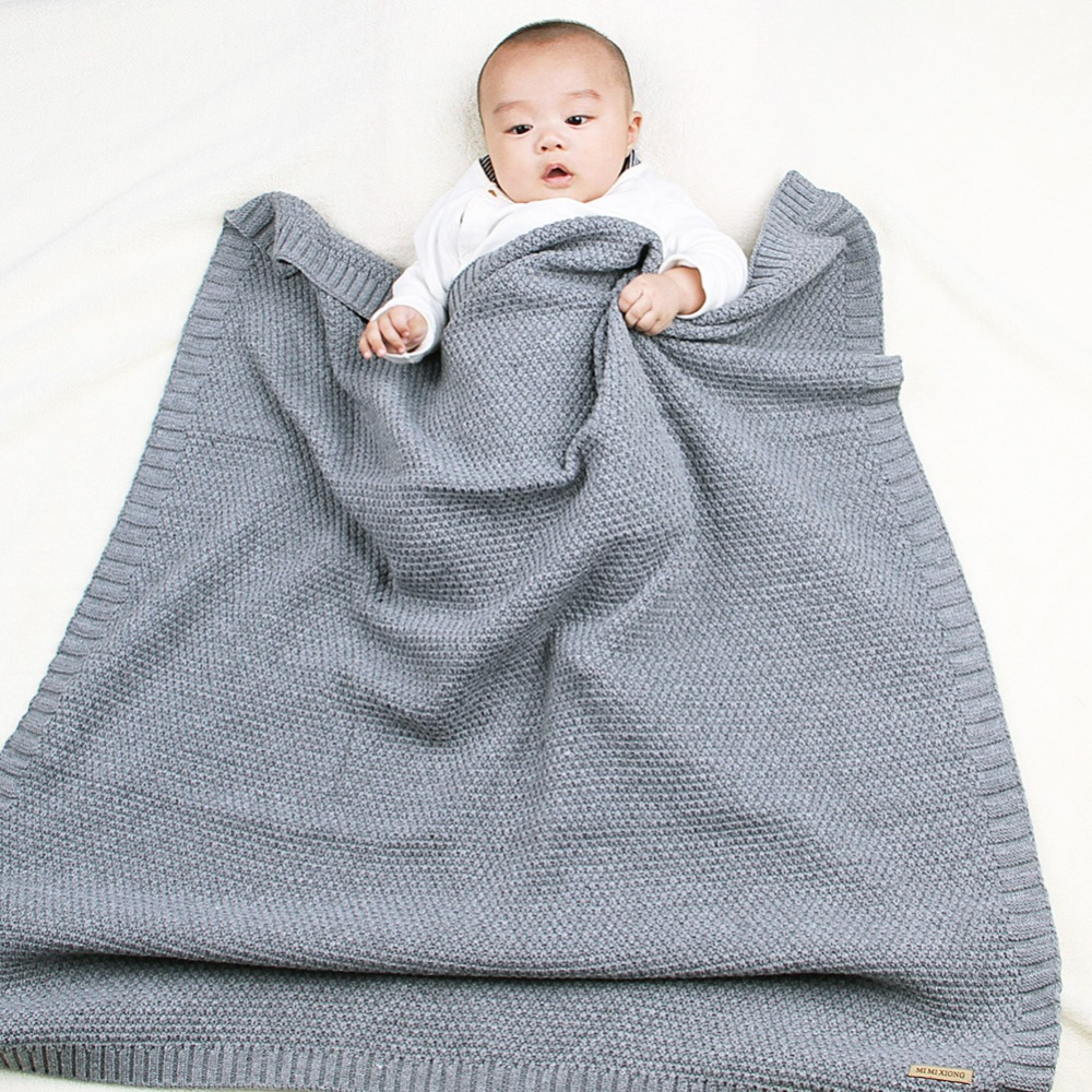 Fashion Kids Knitted Flannel Blanket Bedding Quilt Play Blanket Towel Cover Wrap