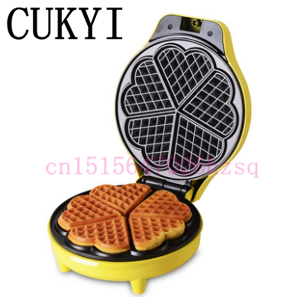 CUKYI Waffle machine household cake machine Automatic electric Multi-function muffin machine cukyi seven ring household electric taolu shaped anti electromagnetic ultra thin desktop light waves