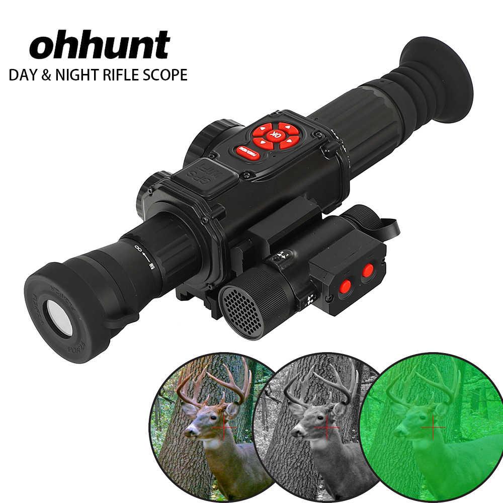 Ohhunt DT-DS85 высокое качество ясно ночное видение Оптика прицел W/видео регистраторы gps Wi Fi компасы HDMI день и ночь применение Инфракрасный прицел