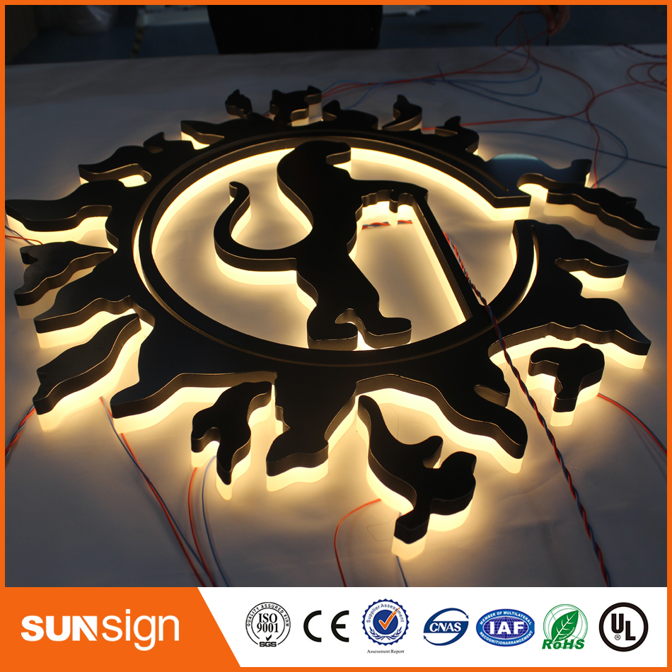 Wall Mounted Clear Acrylic 3d Led Illuminated Sign Backlit Letters