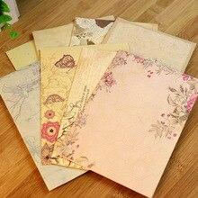 10 шт. винтажный офисный бумажный набор букв для письма в европейском стиле в стиле кантри конверт для бумажного письма школьные канцелярские принадлежности