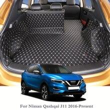 Dành cho Xe Nissan Qashqai J11 2016 Nay Thảm Lót Sàn Ô Tô Da Khay Thảm Hàng Hóa Lót Tùy Chỉnh Tự Động Thân Cây Trải Thảm nội Bộ Thảm