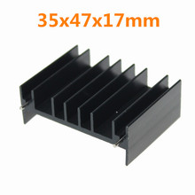 50 Pieces/lot 35x47x17mm IC Radiator MOS Cooler Extruded Heat sink