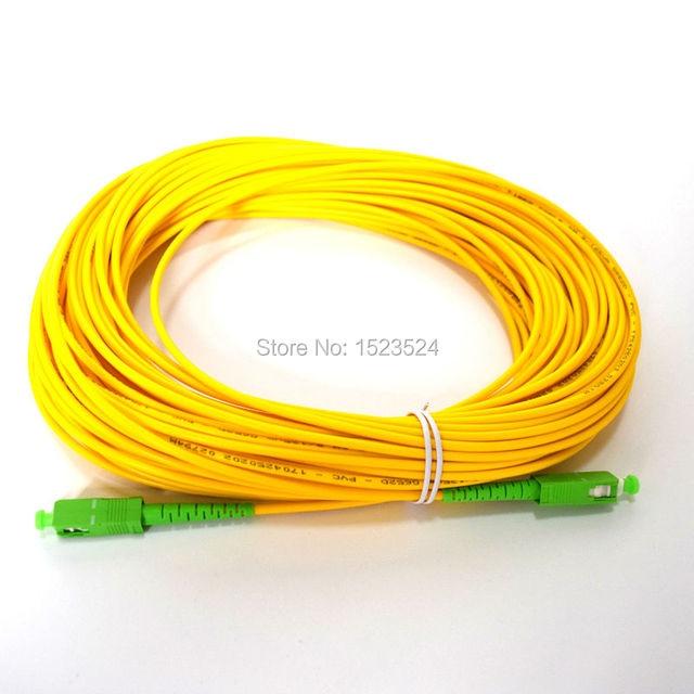 Free Shipping SM SX PVC 3mm 3m 5m 10m 15m 20m 25m 30m SC/APC Fiber Optic Jumper Cable SC/APC SC/APC Fiber Optic Patch Cord