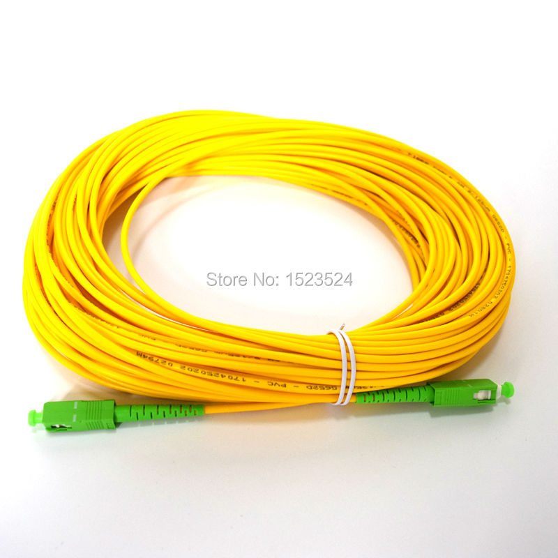 SM SX PVC 3mm 30 Meter SC / APC Fiber Optic Jumper Cable SC / APC-SC / APC Fiber Optic Patch Cord
