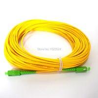 Free Shipping SM SX PVC 3mm 30 Meters SC APC Fiber Optic Jumper Cable SC APC