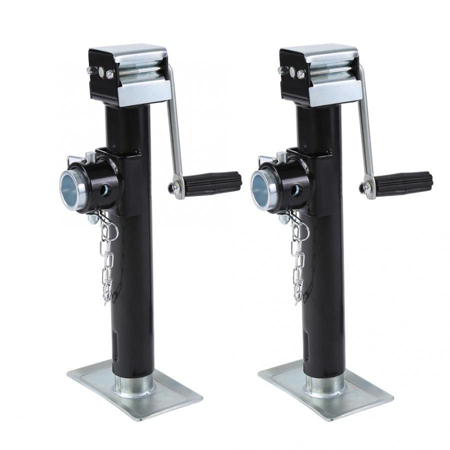 2pcs 1000kg Trailer Jack Pipe Mount Side Wind Drop Leg High Quality A3 Steel Trailer Jack