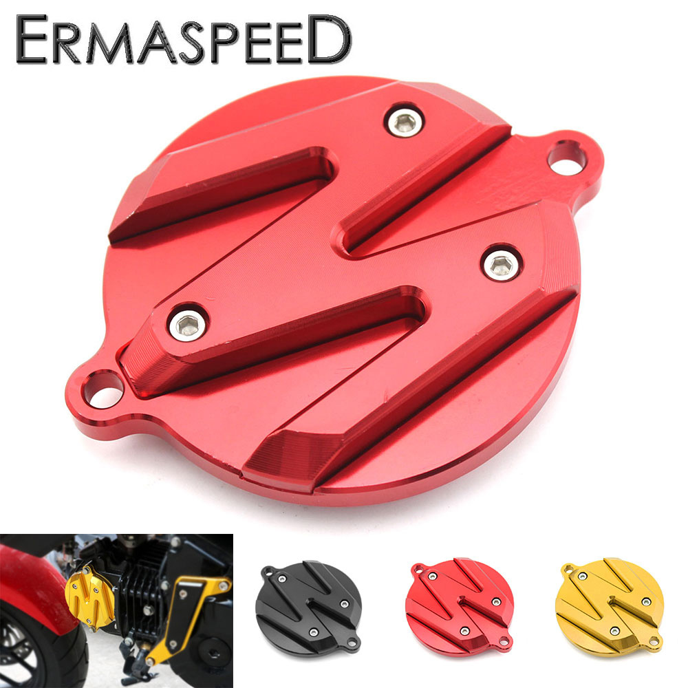 CNC Aluminum Motorcycle Modified Accessory Parts Engine Decorative Cover Round Black Red ...