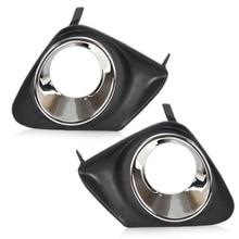 Dwcx Новый 2 шт. автомобильный черный Передний правый + левый бампера Туман свет лампы Крышка решетка гриль пара подходит для Toyota corolla 2011 2012 2013