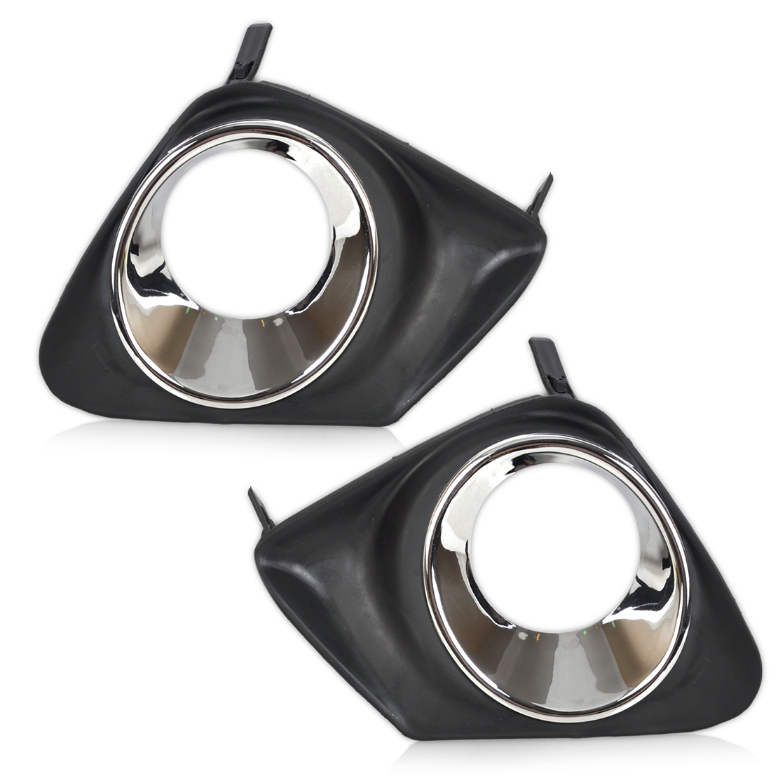 DWCX New 2pcs Car Black Front Right+ Left Bumper Fog Light Lamp Cover Grille Grill Pair fit for Toyota Corolla 2011 2012 2013