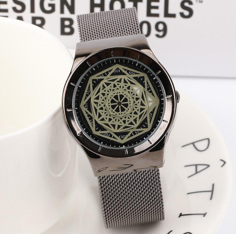 Watches Friendly Brand Watch Fashion Men Crystal Stainless Steel Analog Quartz Wrist Watch Bracelet Relogio Masculino Perfect Gift Dropshipping Save 50-70%
