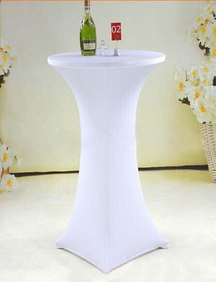 10pcs 60 110cm White Elastic Stretch High Bar Table Cover Lycra Spandex Tail Cloths