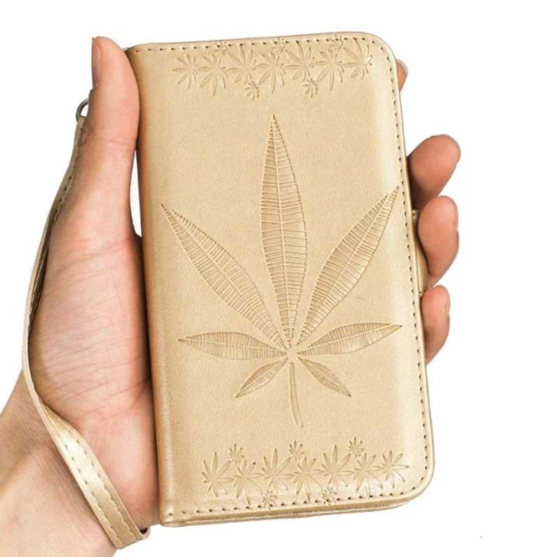 Para iphone ipod touch 5 6 case pu cuero magnética móvil Accesorios de la Cubier