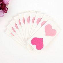 Chicinlife 10pcs Napkin Party Favor Heart Paper Napkin Wedding Party Decoration Decoupage Napkins Birthday Party Table Supplies