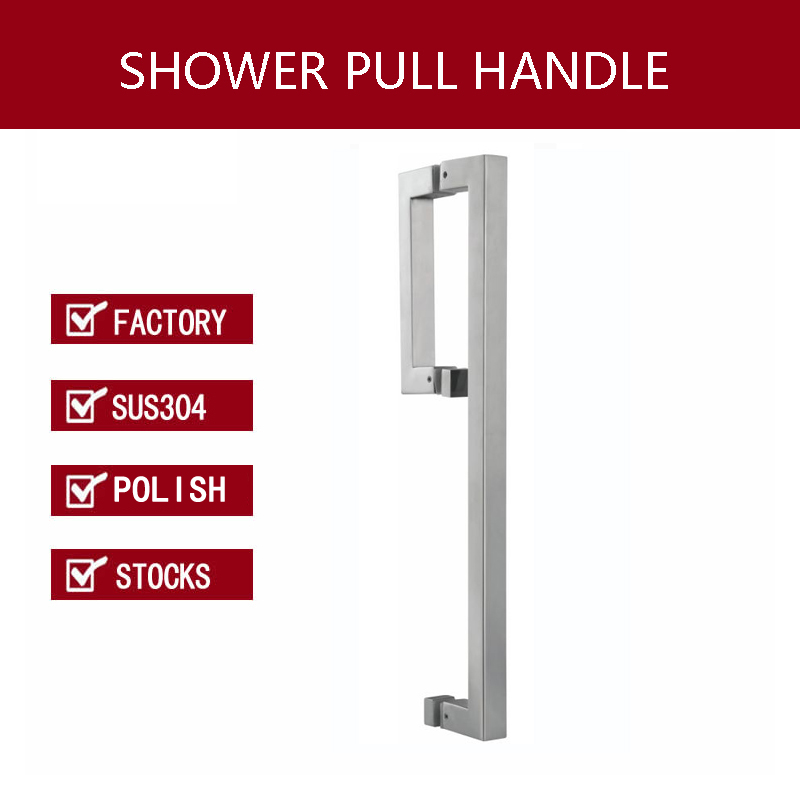 Shower Door Handle 304 Stainless Steel Pull Handles For Bathroom Glass Doors PA-658-Polish entrance door handle polish and brushed 304 stainless steel pull handles pa 111 for glass timber metal frame doors
