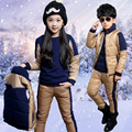 New autumn winter children clothing sets winter jacket for girls boys cotton padded down jacket thicken warm kids outerwear coat