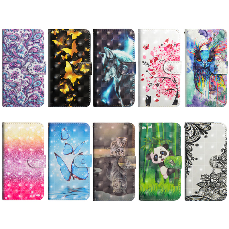 Butterfly Flip SmartPhone Case For Samsung Galaxy A6 2018 Capa Wallet PU Leather Soft TPU Funda For Samsung A8 A9 Star Coque lt in Flip Cases from Cellphones amp Telecommunications
