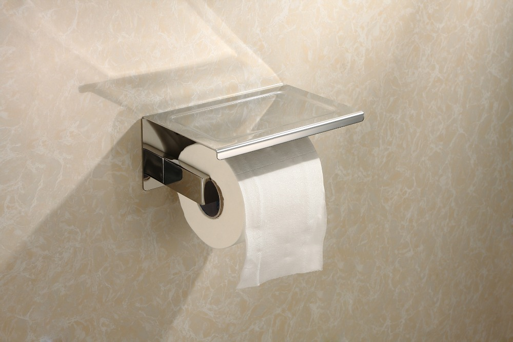 ФОТО High quality 304 stainless steel toilet paper holder fashion  Bathroom accessories,Chrome