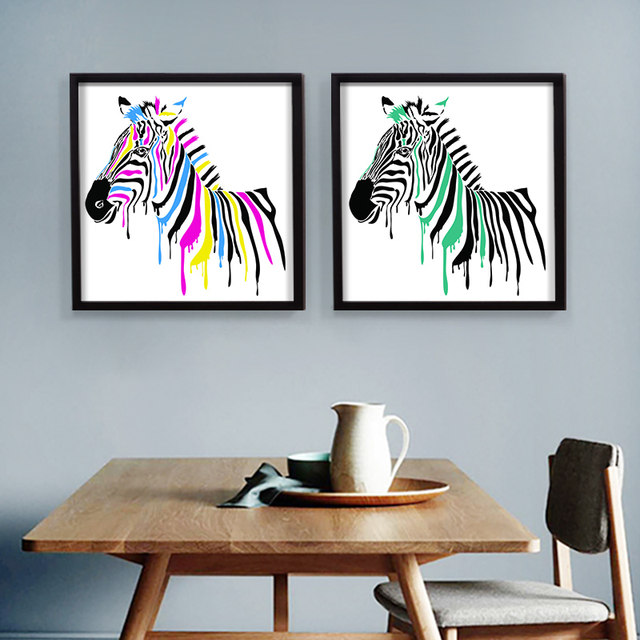 Africa Animal Canvas Painting Modern Pop Wall Pictures Wall Art For Reading  Room Zebra Home Decor Poster No Frame