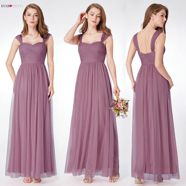 Ever Pretty Long Prom Dresses 2019 Pleated A-Line Floor-Length Vestido De Festa Women Elegant Sleeveless Banquet Party Dress 1