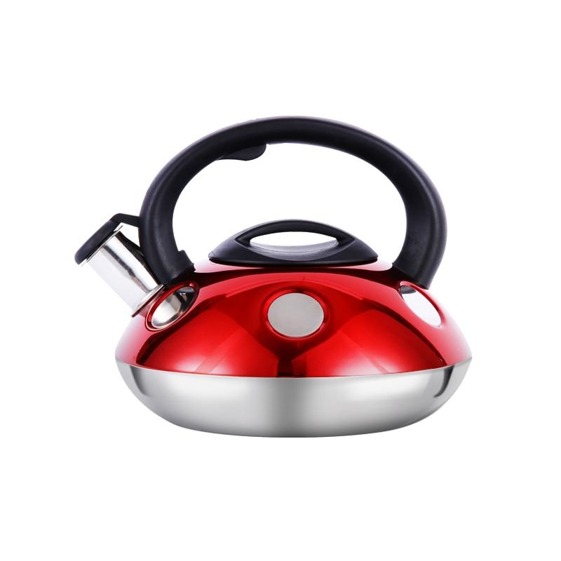 Bouilloire en acier inoxydable épais 2.6L bouilloire à gaz sifflet bouilloire à Induction bouilloire à gaz naturel